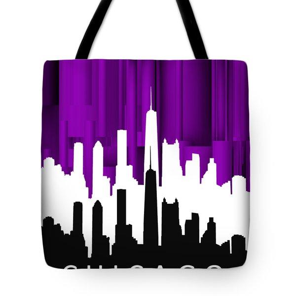 Chicago Violet In Negative Tote Bag