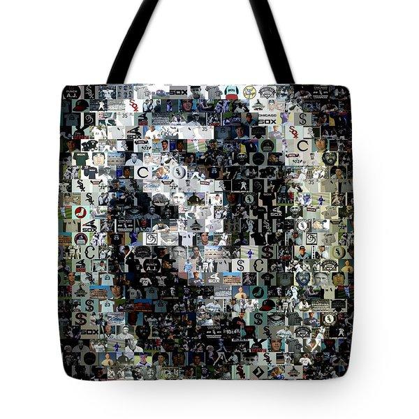 Chicago White Sox Ring Mosaic Tote Bag by Paul Van Scott