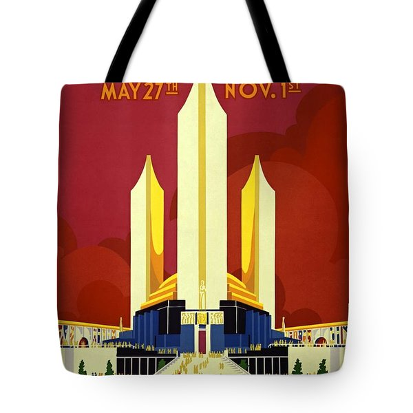 Chicago Worlds Fair 1933 Poster Tote Bag
