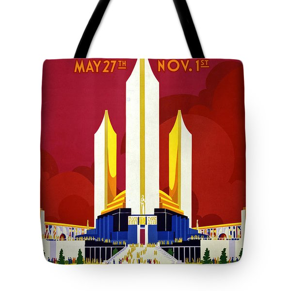 Chicago, World's Fair, Vintage Travel Poster Tote Bag