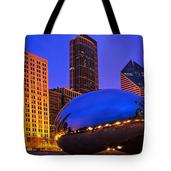 Chicago's Bean At Twilight Tote Bag