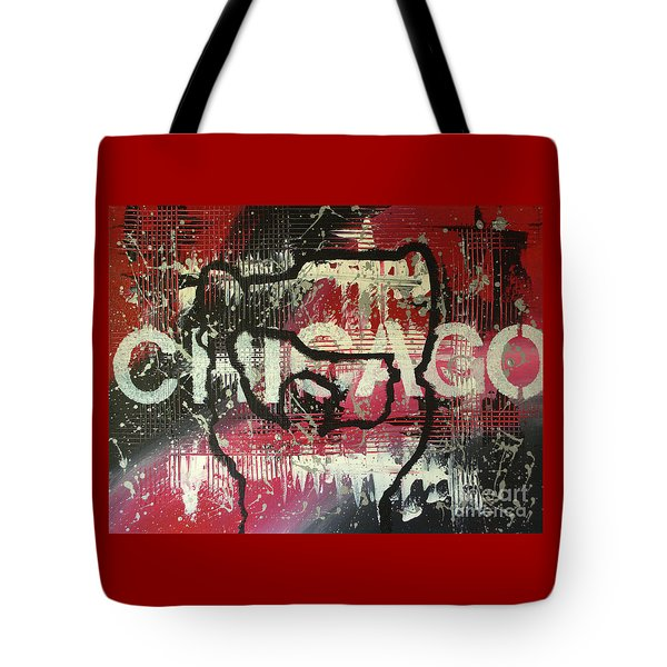 Tote Bag featuring the painting Chicago's Cup by Melissa Goodrich