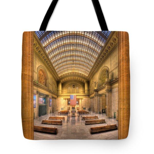 Chicagos Union Station Tote Bag by Steve Gadomski