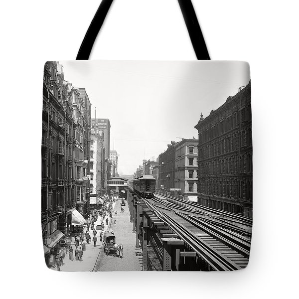 Chicago's Wabash Avenue  1900 Tote Bag