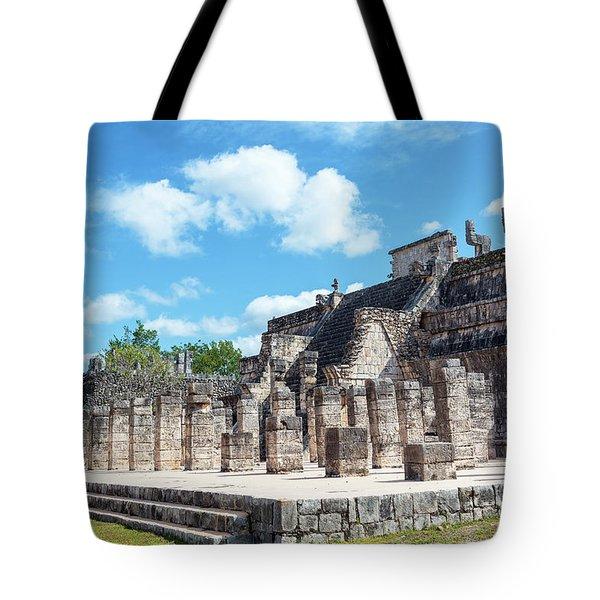 Chichen Itza Temple Of The Warriors Tote Bag