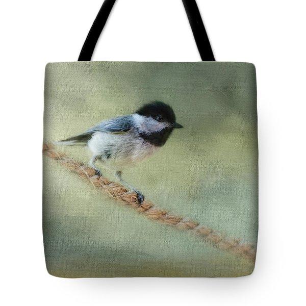 Chickadee At The Shore Tote Bag