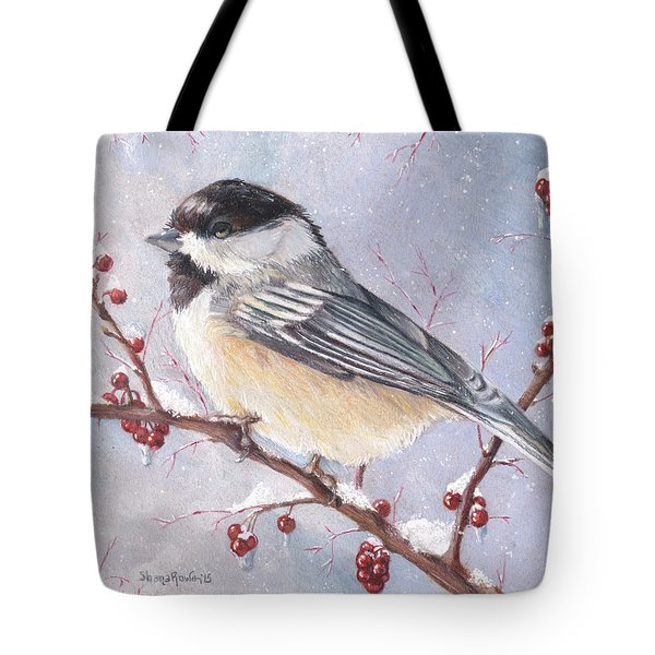 Chickadee Dee Dee Tote Bag by Shana Rowe Jackson