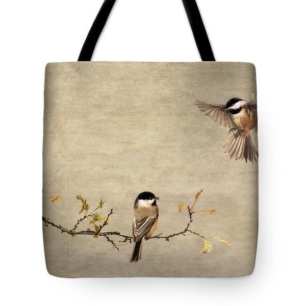 Chickadee Encounter II Tote Bag