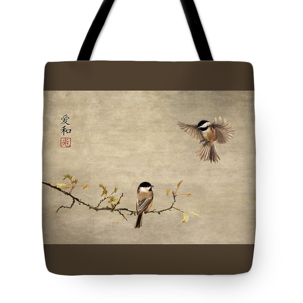 Chickadee Encounter II Tote Bag