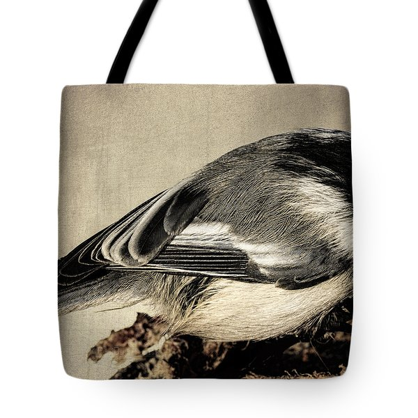 Chickadee Feathers Tote Bag