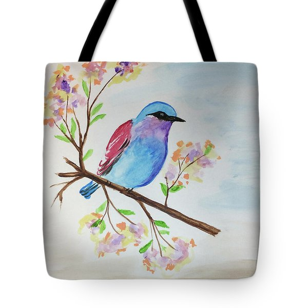 Chickadee On A Branch Tote Bag