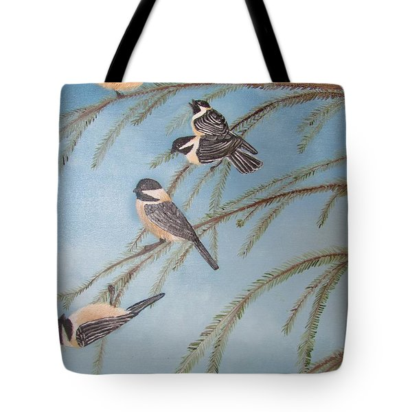 Chickadee Party Tote Bag