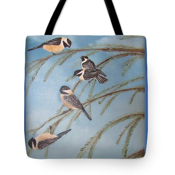 Chickadee Party Tote Bag by Thomas Janos