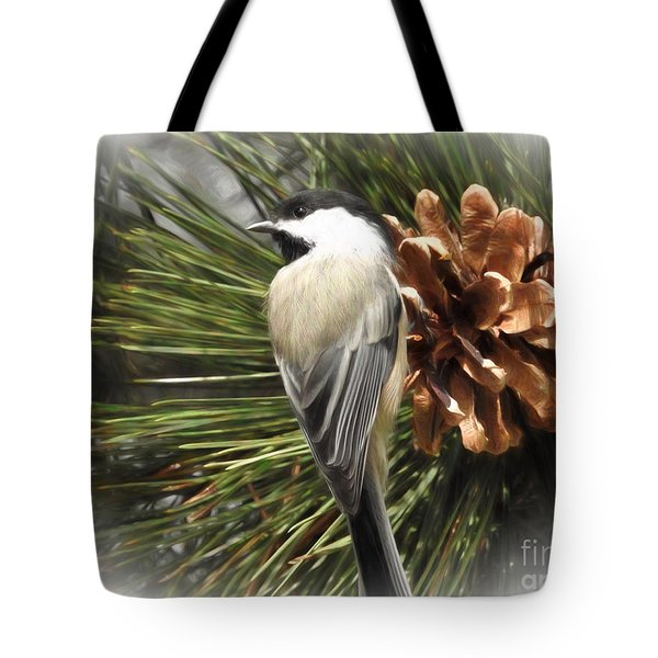 Chickadee Tote Bag by Suzanne Handel