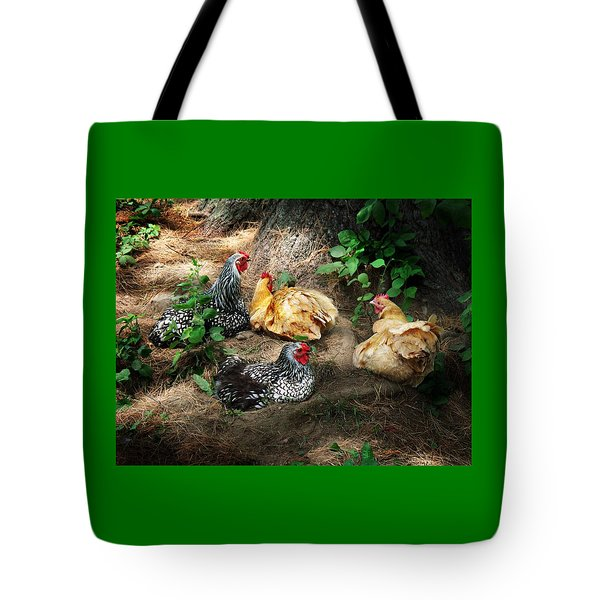Chicken Dust Bath Party Tote Bag