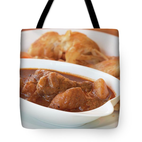Tote Bag featuring the photograph Chicken Massaman Curry by Atiketta Sangasaeng
