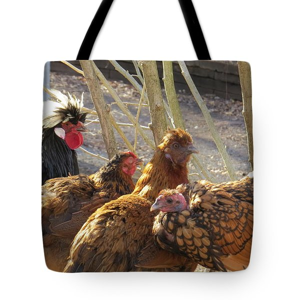 Chicken Protest Tote Bag