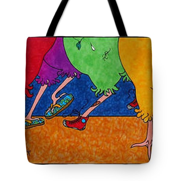 Chicken Walk Tote Bag