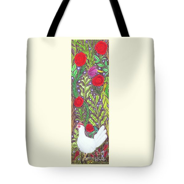 Chicken With An Attitude In Vegetation Tote Bag