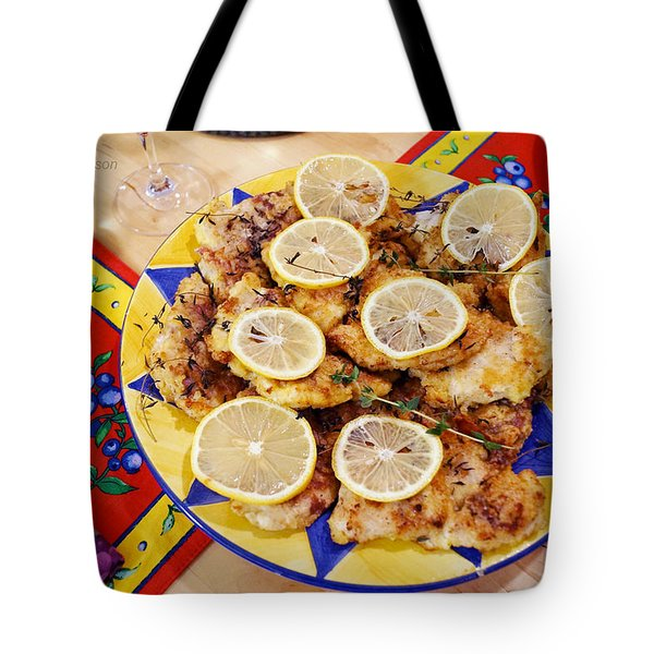 Chicken With Lemon Tote Bag
