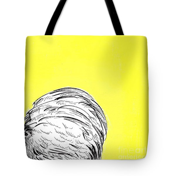 Tote Bag featuring the painting Chickens Two by Jason Tricktop Matthews
