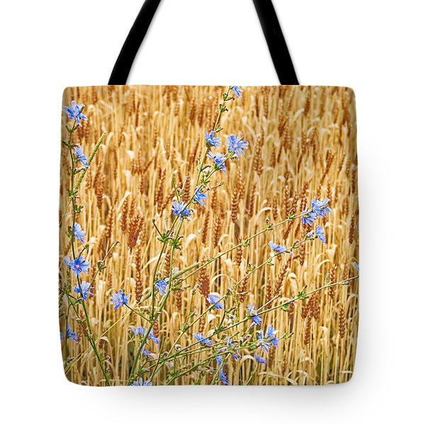 Chicory On Wheat Tote Bag
