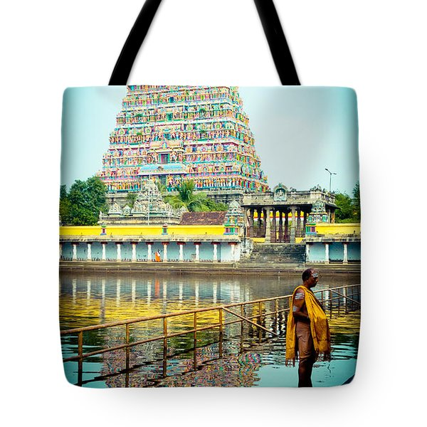 Chidambaram Temple Lord Shiva India Tote Bag
