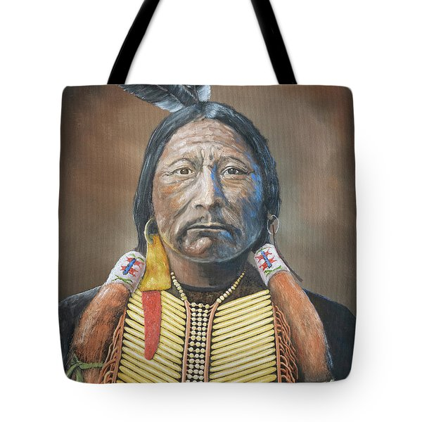 Chief Buckskin Charley Tote Bag by Jerry McElroy