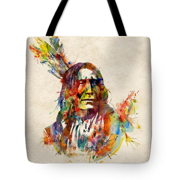 Chief Mojo Watercolor Tote Bag