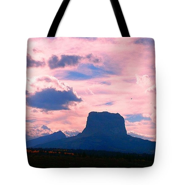Chief Mountain, Pastel Tote Bag
