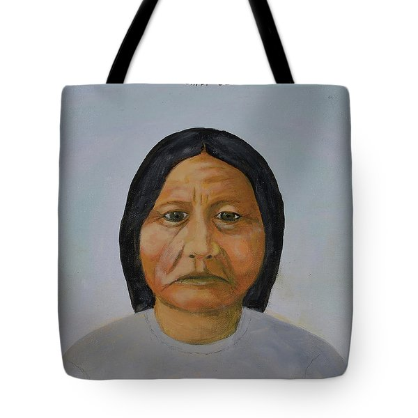 Chief Setting Bull Tote Bag