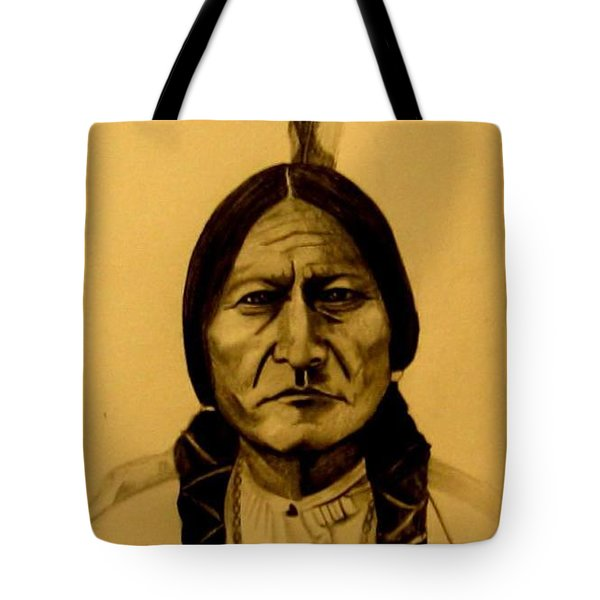 Chief Sitting Bull  Tatanka Iyotake Tote Bag