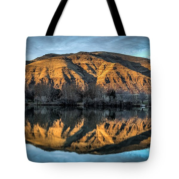 Chief Timothy Reflection Tote Bag by Brad Stinson
