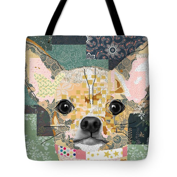 Chihuahua Collage Tote Bag by Claudia Schoen