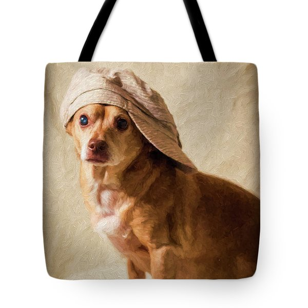 Chihuahua In A Newsboy Hat Tote Bag