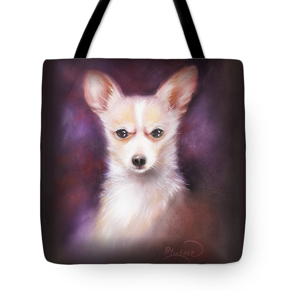Tote Bag featuring the drawing Chihuahua No. 1 by Patricia Lintner