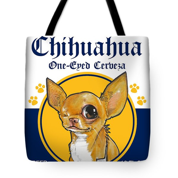 Chihuahua One-eyed Cerveza Tote Bag