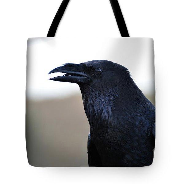 Chihuahua Raven Profile Tote Bag