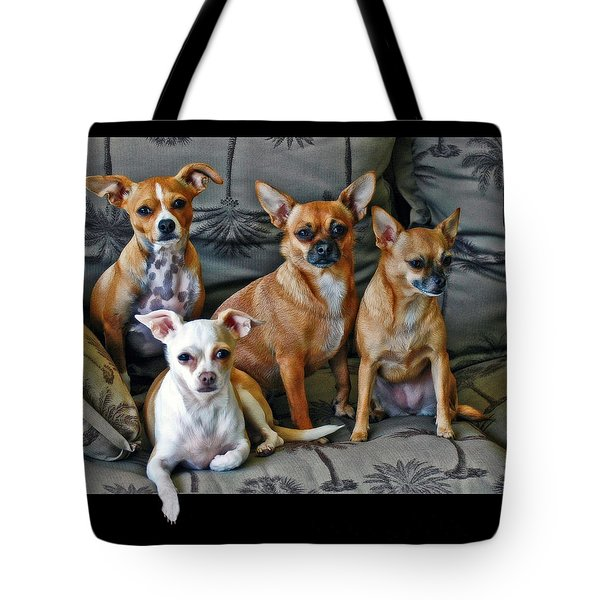 Chihuahuas Hanging Out Tote Bag