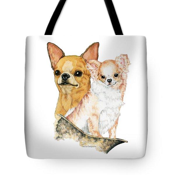 Chihuahuas Tote Bag by Kathleen Sepulveda
