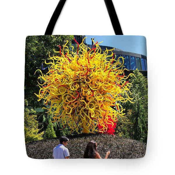 Chihuly Tree Tote Bag by Farol Tomson