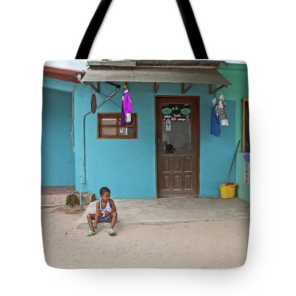 Child And House Tote Bag