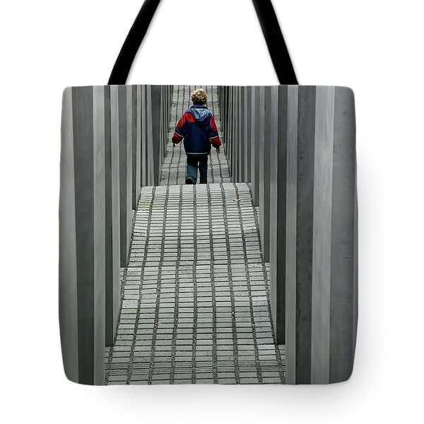 Tote Bag featuring the photograph Child In Berlin by KG Thienemann