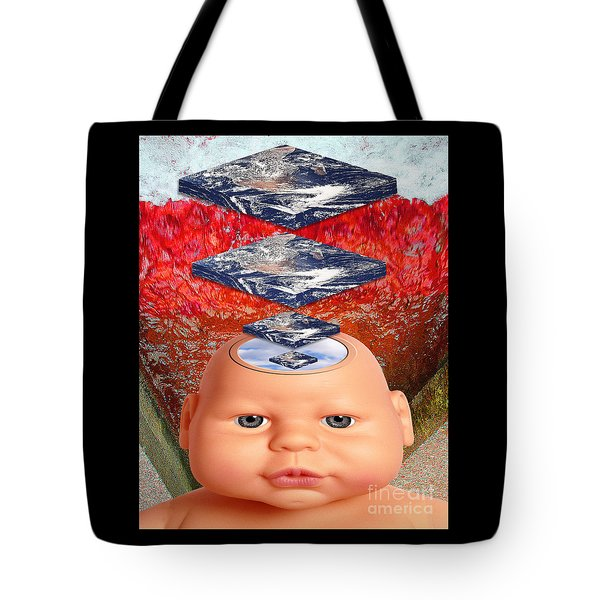Child In Flat Worlds Tote Bag by Keith Dillon