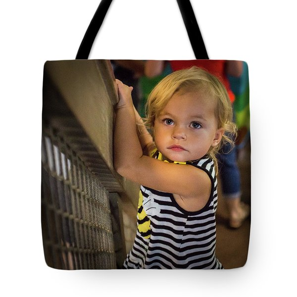 Tote Bag featuring the photograph Child In The Light by Bill Pevlor