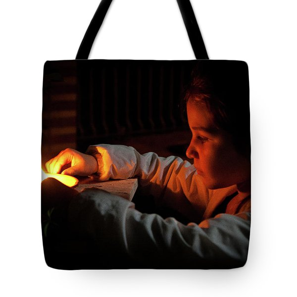 Child In The Night Tote Bag