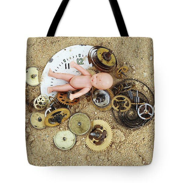 Child In The Time Tote Bag by Michal Boubin