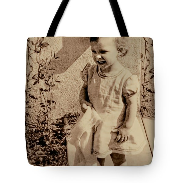 Tote Bag featuring the photograph Child Of 1940s by Linda Phelps