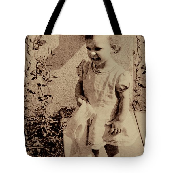 Tote Bag featuring the photograph Child Of  The 1940s by Linda Phelps