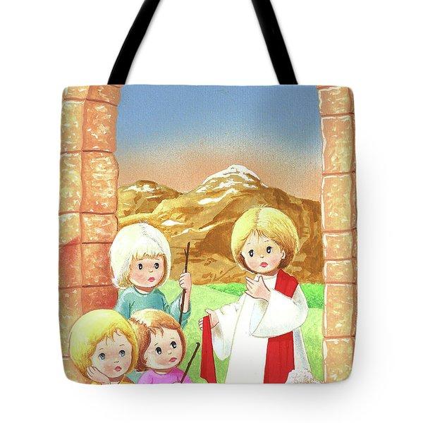 Child Shepherds Tote Bag